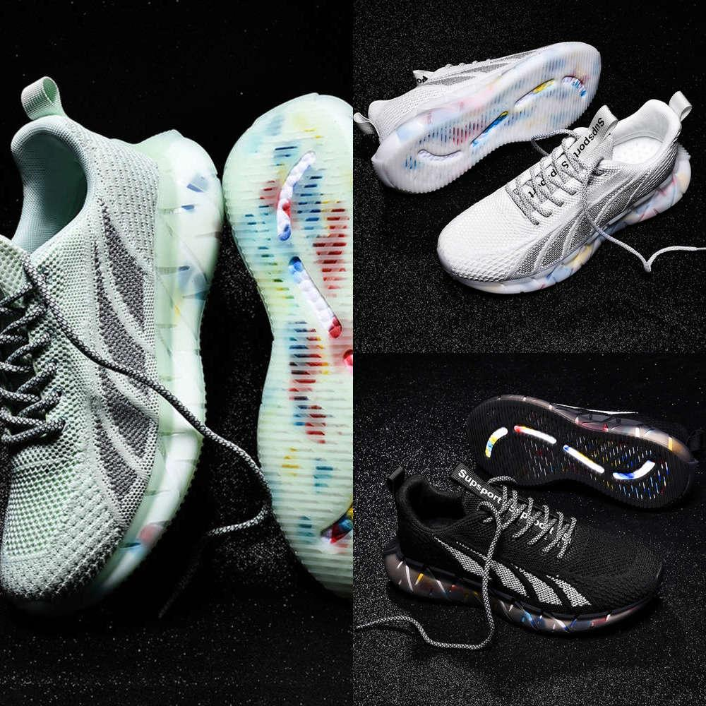 Casual New men's shoes, sports breathable mesh leisure popcorn flying fashion youth C65V FWSI AT7O P2M2
