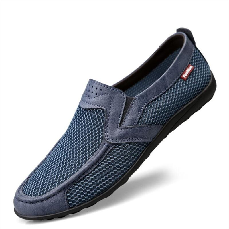 Summer net shoes men's casual breathable mesh sports one-foot large size walking old Beijing cloth 36-47