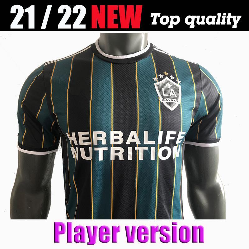 Игрок версии 21 22 Ибрагимович La Galaxy Away Soccer Jersey Los Angeles Giovani Cole Alessandrini Corona Футбольный комплект Топ-рубашки 2021