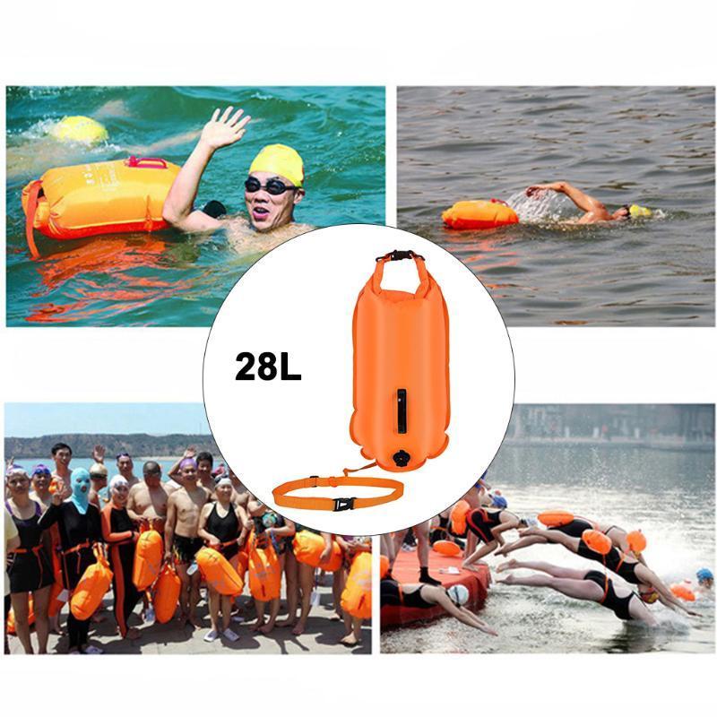 Lebensweste Boje Safety Swimming Air Dry Tow Bag Float Aufblasbares sicheres wasserdichtes Gerät 20L 28L für Wassersport