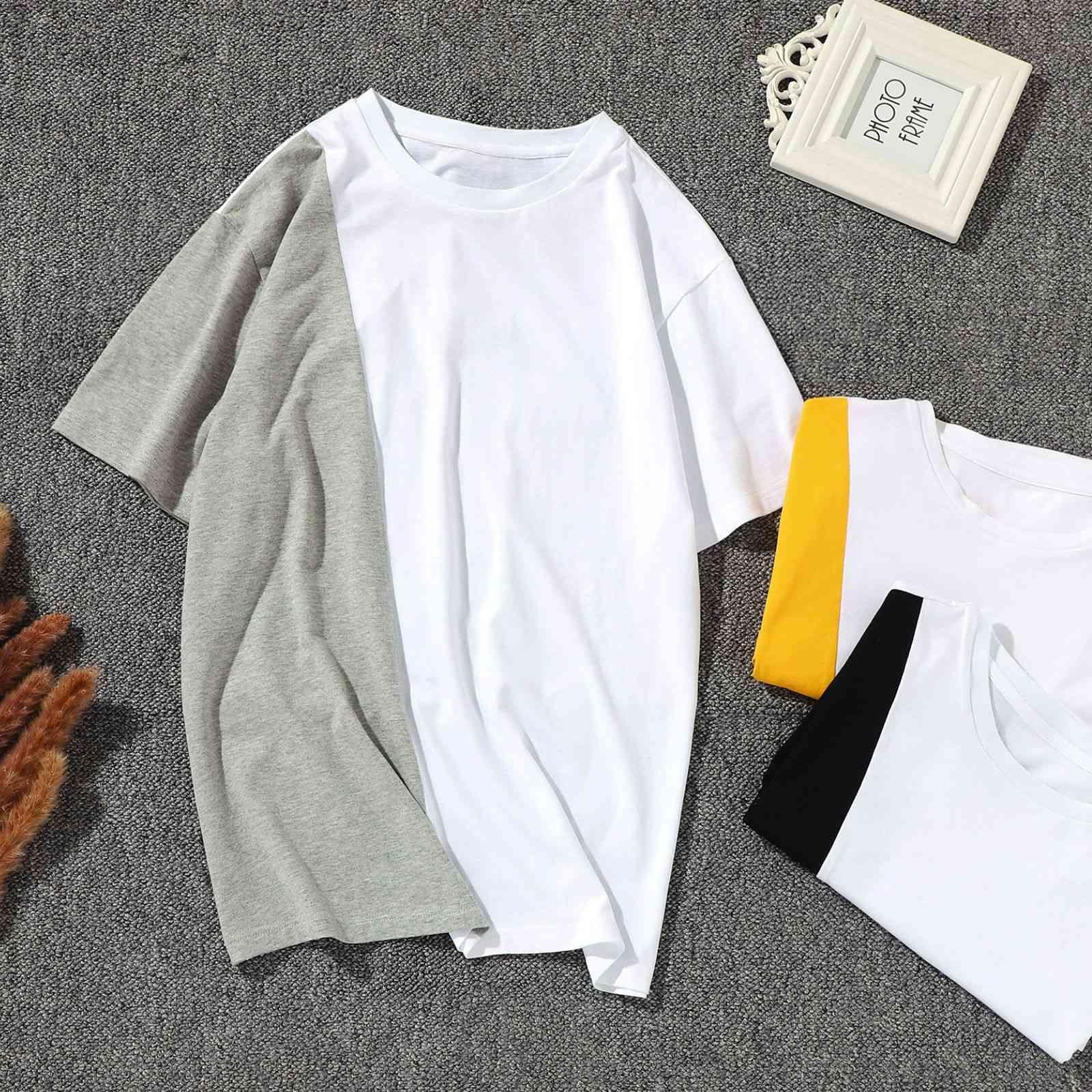 T-shirt Ruixin 2021 Summer Pure Cotton Lovers Brand Slip Split Slip Manica Corta T-shirt T-shirt