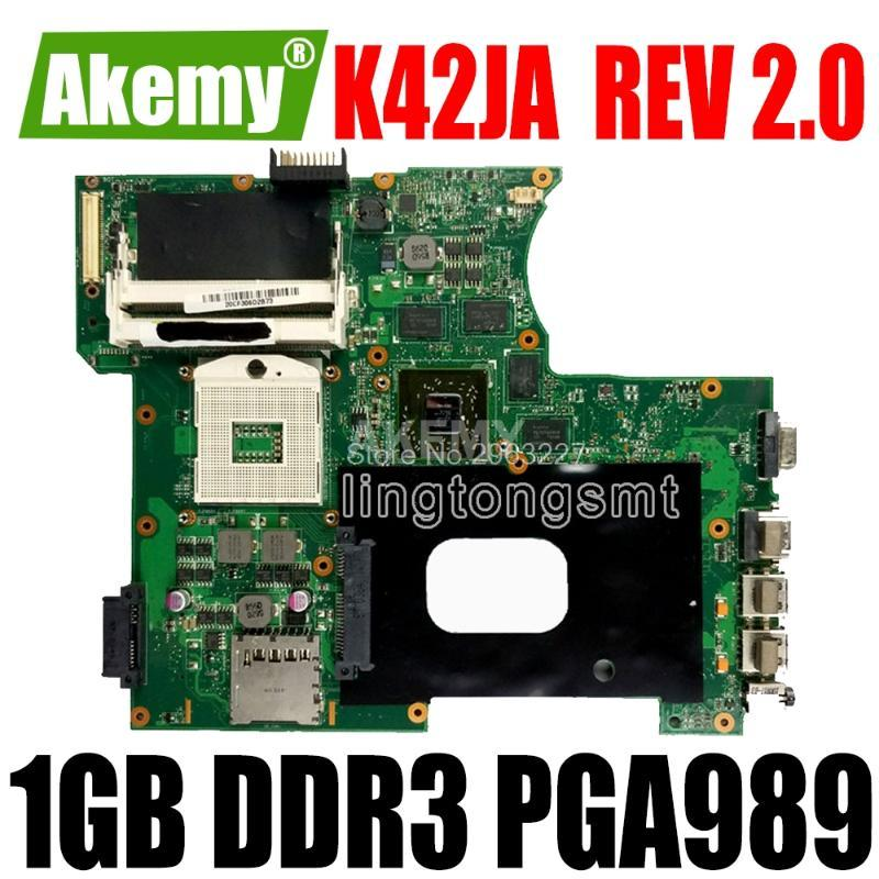 Motherboards K42JA HD5730 1GB For Asus K42J A40J X42J A42J Laptop Motherboard REV 2.0 2GB Memory 100% Tested Mainboard