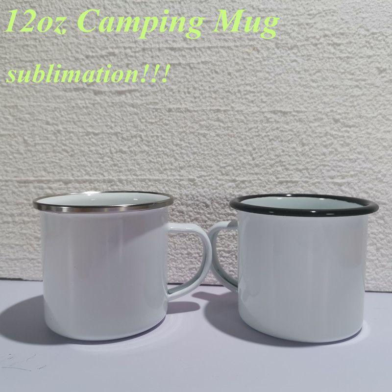 Сублимационная эмаль кофе кемпинг кружка 12 унций из нержавеющей стали кофейная чашка прочные путешествия напитки кружки ностальгия чашки