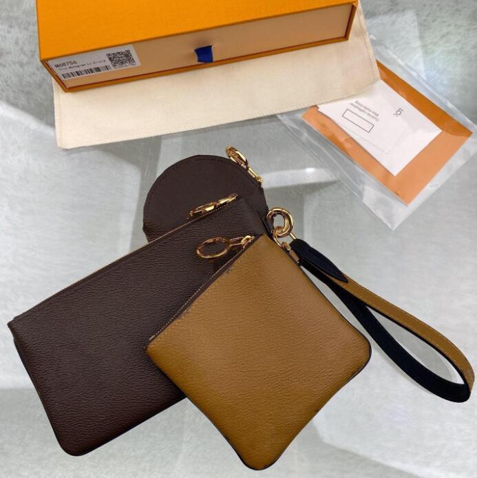 3 قطعة / المجموعة سيدة مصممين luxurys محفظة العلامة التجارية حقيبة عملة الحقيبة مفتاح محفظة أحدث أعلى جودة حقائب اليد الكلاسيكية حامل البطاقة