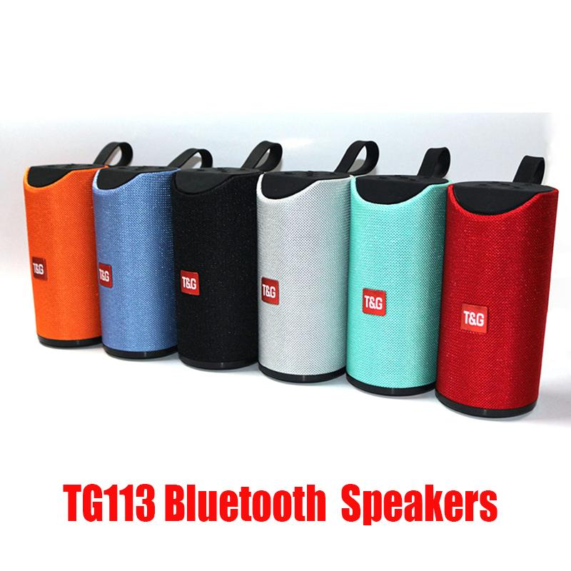 Yeni TG113 Bluetooth Kablosuz Hoparlörler Subwoofers Handsfree Çağrı Profil Stereo Bas Desteği Hi-Fi Yüksek Sesli TF USB Kartı Aux Line