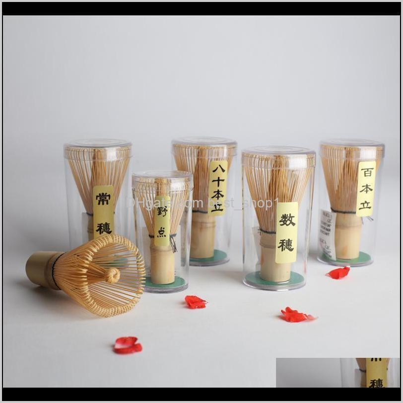 Drinkware Kitchen Dining Bar Home Garden Drop Delivery 2021 Japanese Ceremony Bamboo Matcha Chasen Tea Service Practical Powder Whisk Brush S