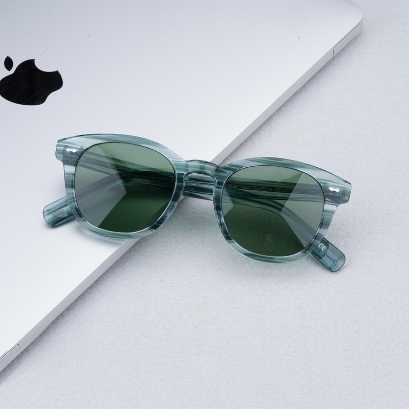 Sonnenbrille Grüne Frauen 2021 Cary Grant Herren mit Objektivgläsern Vintage Oliver Originalkasten