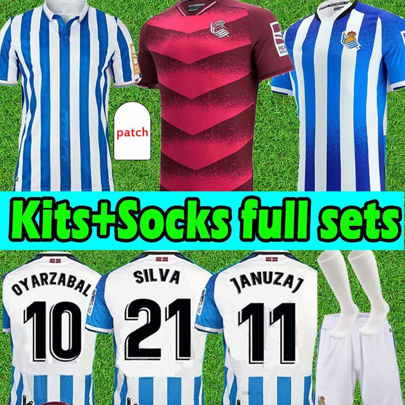 2021 2022 Gerçek Sociedad Futbol Formaları Copa Del Rey Son Sürüm 21/22 Oyarzabal X Prieto Portu David Erkekler Çocuk Kitleri Çorap Tam Setleri Camiseta de Futbol Futbol Gömlek