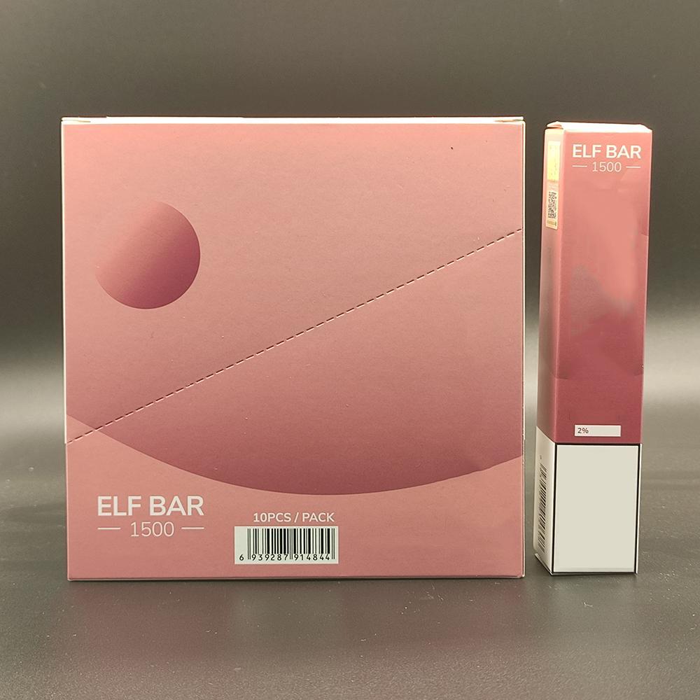 ORIGINAL ELF BAR 1500 Puffs E-cigarrillo Vape POD Dispositivo desechable 1500puffs 850mAh Battey 4.8ml Pods desechables 2% 5% fuerza 16 colores Barras Bang XXL Elfbar atomizador