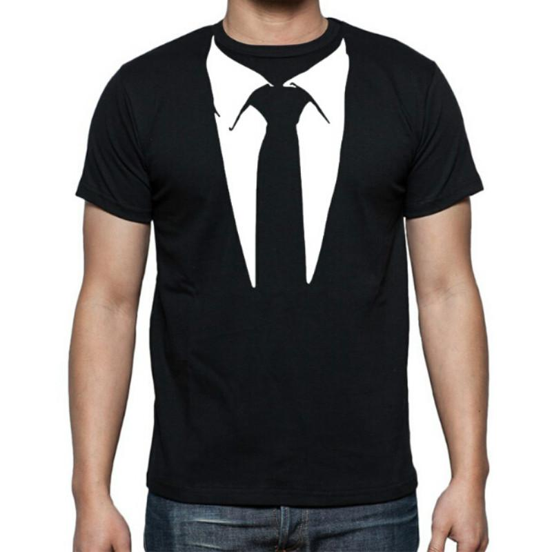 Neue Neuheit Männer T-Shirts Tuxedo Tees Retro Krawatte Lustige Camisetas Männer O Neck Top T-shirt Casual Fitness Herren Kleidung
