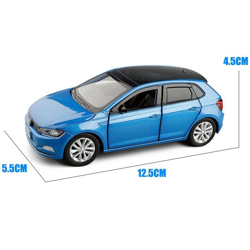 132 VOLKSWAGEN-POLO VW PUSL Hatchback Car Modelo Diecast Liga Brinquedo Crianças Presente Som Luz Luz Mini Carro Coleção