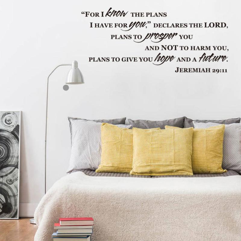 Wallpapers Jeremiah 29:11 Porque eu conheço os planos que você bíblia versículo decalque adesivo