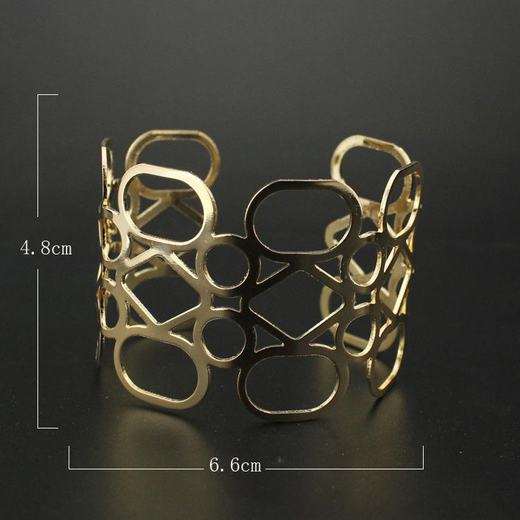 Jewelry Other Bracelets European and American fashion personality pattern intersecting hollow opening bracelet women