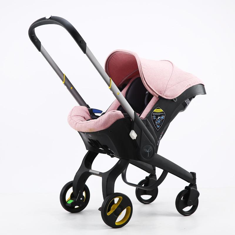 Passeggino bambino 4 in1 Seggiolino auto 0-2 anni Carrello nato Carrello portatile Carrello Passeggini 1453 B3