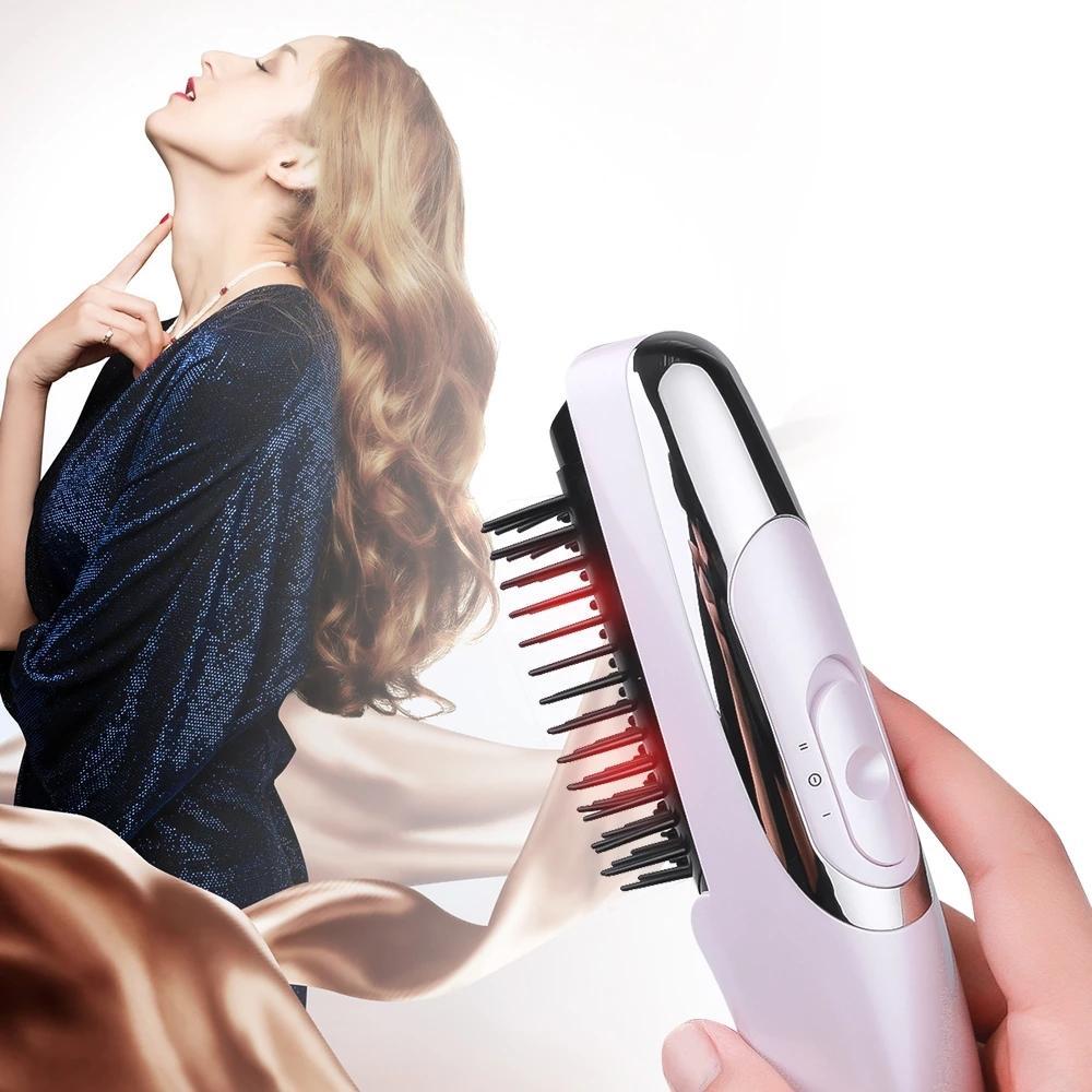 مشط المعالجة بالليزر وقف الخسارة يروج ل Regrowth النمو الجديد علاج الشعر الهزاز رئيس مدلك