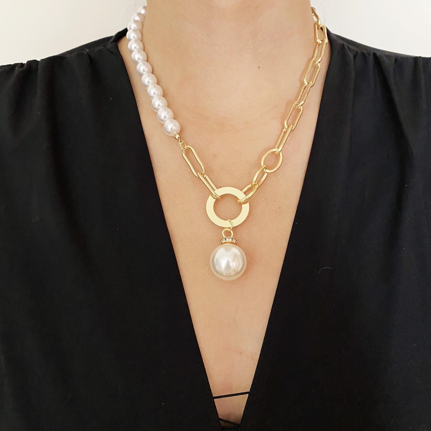 Pearl pendant necklaces chain fashion necklace for woman classic baroque jewelry European American traditional style lady superior quality optional