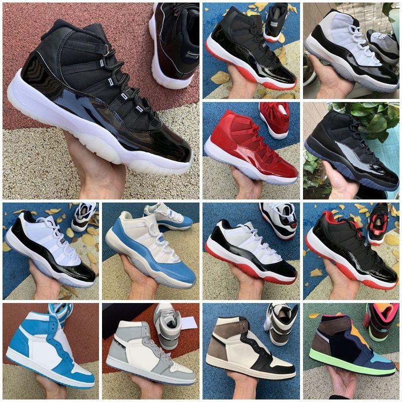 2021 Jubilee Serin Gri 11 Erkekler Açık Ayakkabı Yangın Kırmızı Sneakers Bred 11s Düşük Gamma Legend Üniversitesi Mavi 13 S Concord Uzay Reçel Siyah Kedi Beyaz Çimento Kadınlar UNC 13 Paket