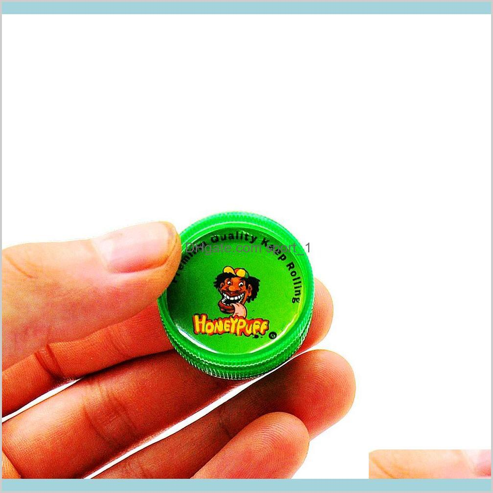 Other Smoking Accessories Household Sundries Home & Garden 48Ps/Lot 2 Layers 30Mm Mini Hard Plastic Tobacco Herb Grinder Muller Reggae