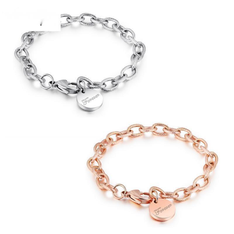 OPK Ювелирные Изделия Толстая Mahua Круглый Любовь Позолоченный Розовый браслет