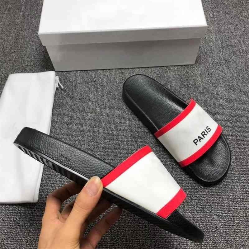 Paris Fashion Sliders Mens Womens Summer Sandals Sandali Spiaggia Pantofole da donna Flip Flops Mocassini Black White Rosso Slides Slifts Chaussures Scarpe