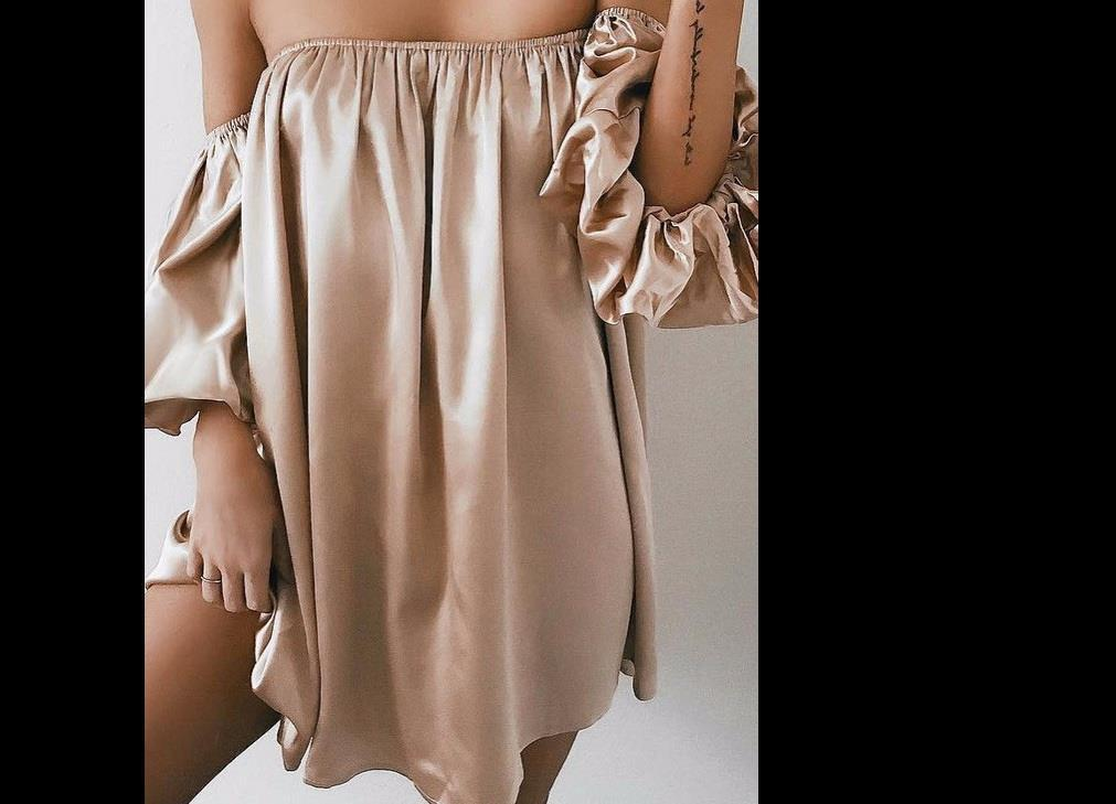 Summer Sexy Women Dresses Solid Pink Lady Female Clothes Long Bell Sleeve Loose Lantern Ruffled Flounce Off Shoulder Dress