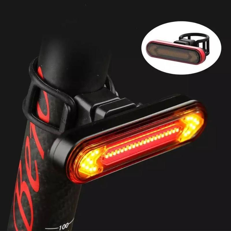 Велосипедные фонари Светодиодный хвостовой светло-сигнал поворота велосипеда USB аккумуляторный удаленный контроль вспышка задний красный водонепроницаемый тормозной сигнальный лампа