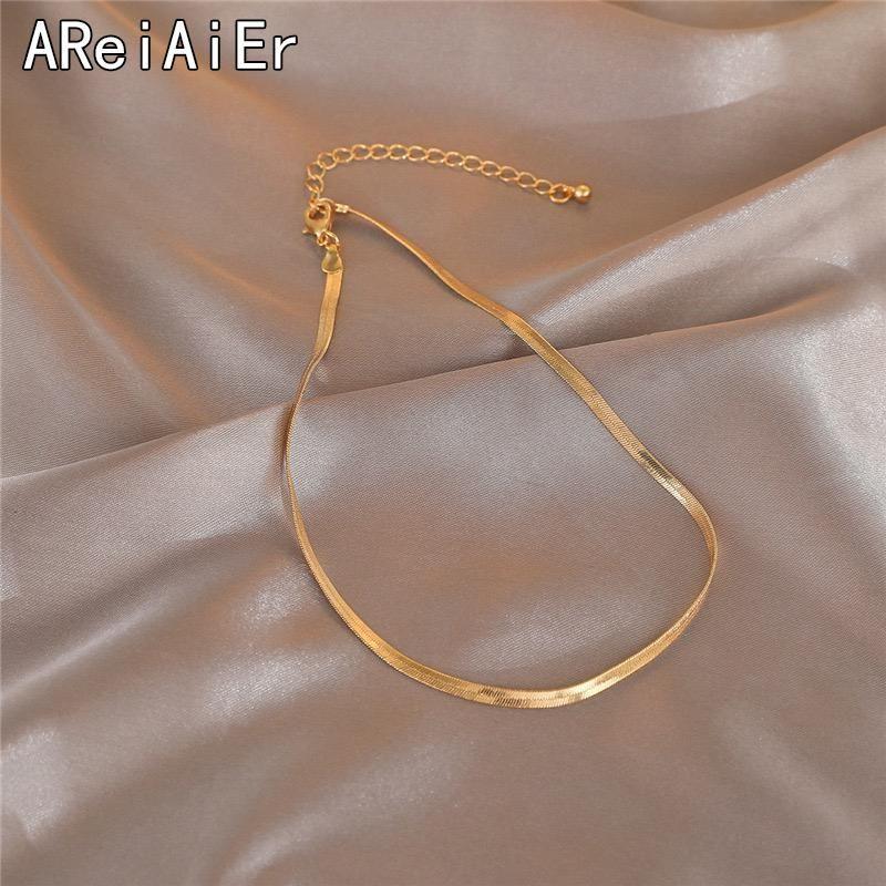 Chokers Мода ссылка цепь Choker змея кость короткие ожерелье слой для женщин ожерелья ожерелья ожерелья ювелирные изделия золотые цвета подарки