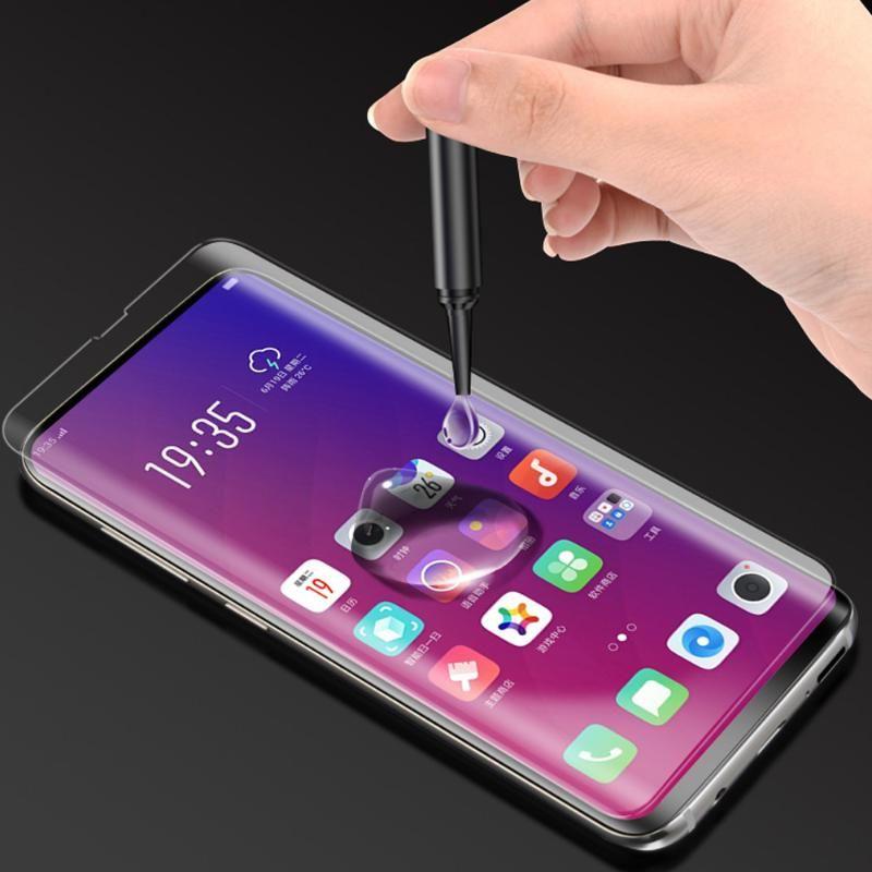 Cep Telefonu Ekran Koruyucuları Nano Sıvı Tam Tutkal OPPO Için Temperli Cam X Koruyucu Kumanda Kapağı