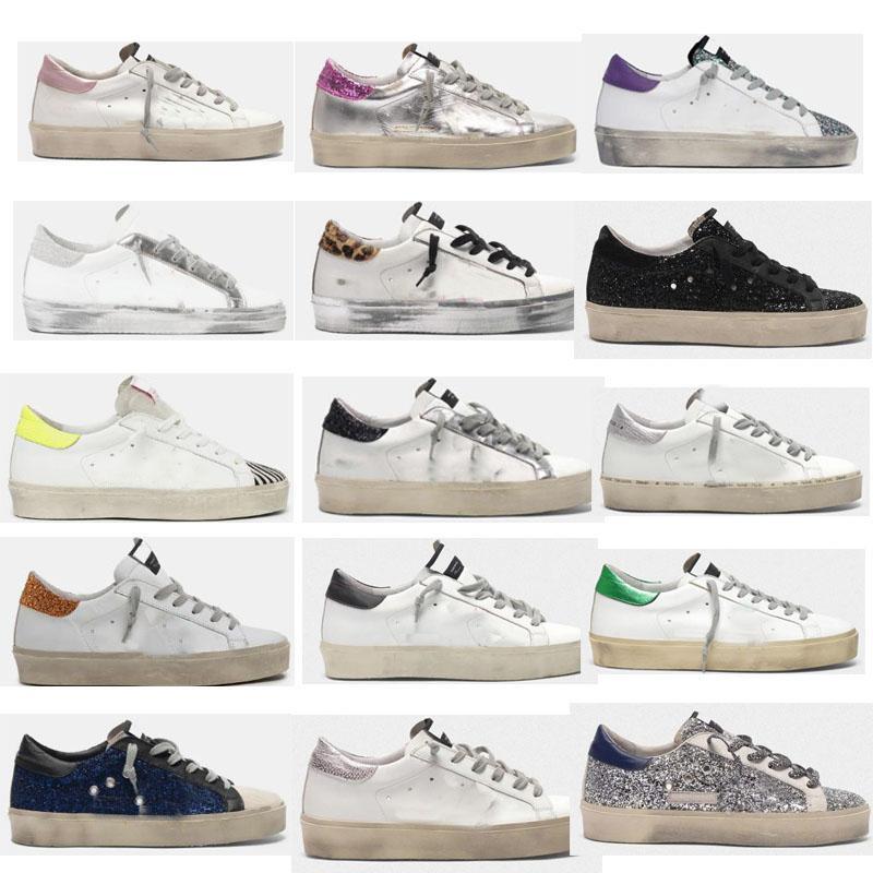 Salut Star Sneakers Designer Star Star Star Casual Chaussures Classic Do-Vieux Sale Shoe Goose Double Hauteur Formateurs Bases d'or Femmes Golden Femmes Homme Meilleure qualité