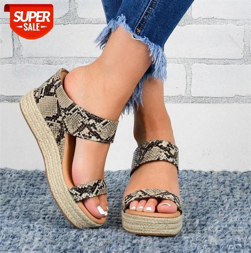 Women Sandals Shoes for Woman Summer Flip Flops Slippers High Heels Ladies Platform Wedges Stripper Block #ej2t