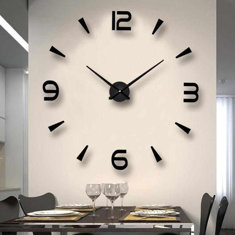 Special Large Diy Quartz 3d Wall Clock Living Room Decoration Big Watch Mirror Stickers Modern Design Home Decor Clocks