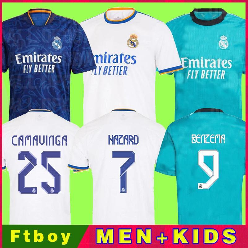 real madrid camiseta de fútbol 20 21 MBAPPE HAZARD SERGIO RAMOS BENZEMA VINICIUS ASENSIO MODRIC ALABA chandal hombres + conjunto de kits para niños 2020 2021 de la soccer jerseys