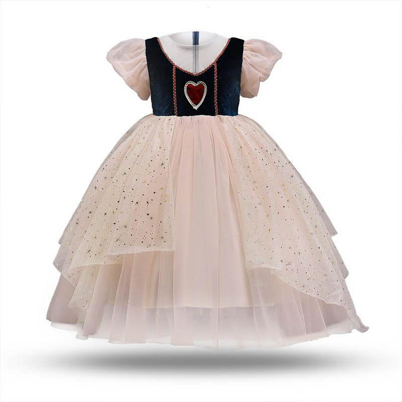 Girl's Dresses Baby Girls Casual Clothes Children Clothing Lace Birthday Party Pettiskirt Formal Princess Long B5463