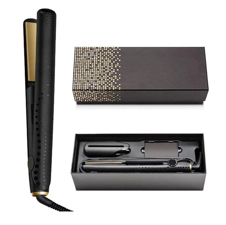 في المخزون الخامس الذهب ماكس مستقيم الشعر الكلاسيكية المهنية الطراز سريع فرصاص الحديد أداة التصميم