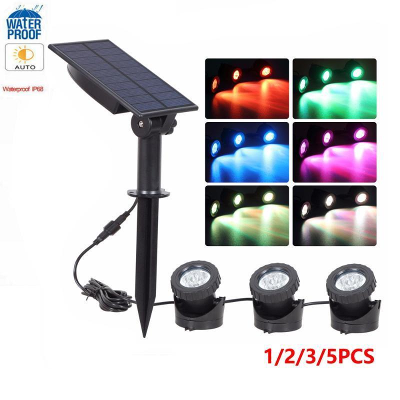 Solarlampen 1/2/3 / 5 stücke Power LED Taucher Licht Wasserdicht Unterwasser Pool Lampe Teich Beleuchtung Projektor RGB Garten Spotlight