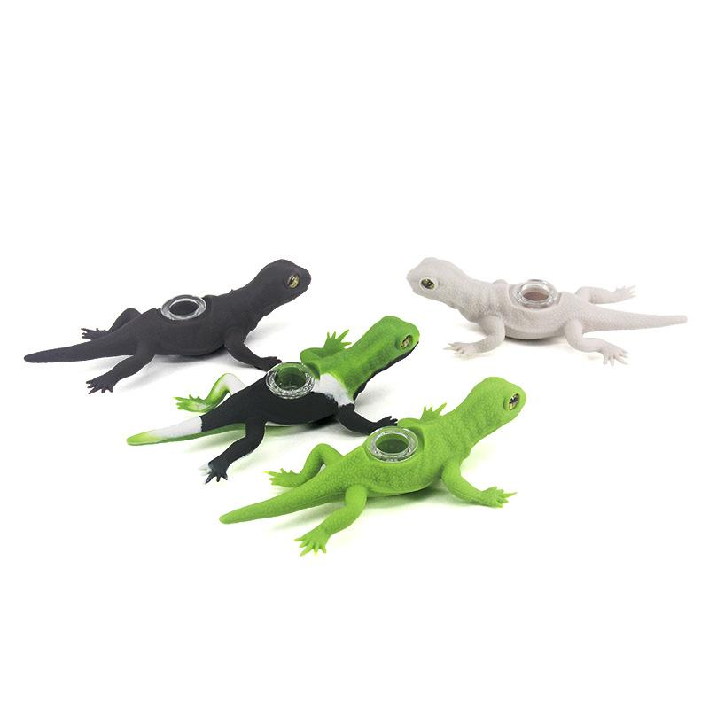 Compare with similar Items Lizard Design Silicone Hand Pipe Bongs Water Herb Pipes Heady Pyrex Spoon Glass Bowl Smoking Oil Rig Dab Burner Tobacco