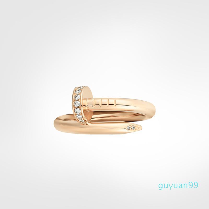 Anello per unghie Anelli da uomo Anelli Diamanti Designer Designer Gioielli Donne in lega d'acciaio in titanio in lega d'oro placcato oro argento rosa