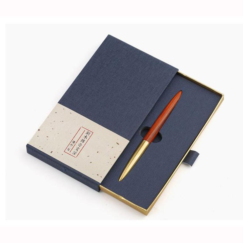 Penas de gel 1 conjunto de mahogany assinatura caneta criativa presentes comemorativos de escritório boné de bronze negócio rolo de luxo personalizado