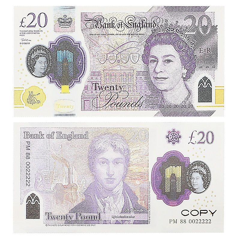 Party Replica US Поддельные деньги Деньги Детские Игрушки Игрушка или Семейная игра Бумага Копировать UK Banknote 100 шт. Пакет практики подсчет фильмов