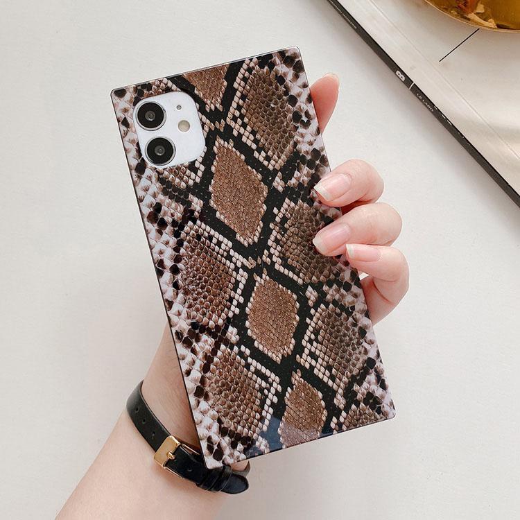 Beautiful Snake Skin Design Design Telefono Custodie in pelle Cover Shell Cover Snakeskin Cover Snakeskin Case per Apple 8plus XR x Max 11 12 Pro