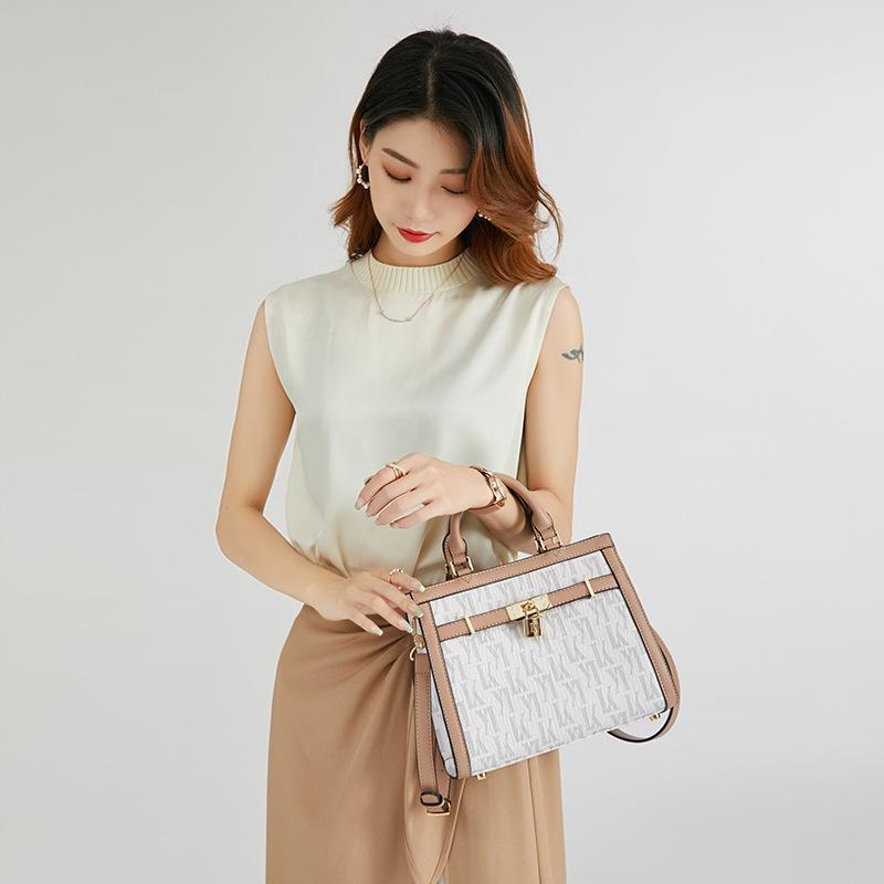 Evening Bags 100% Genuine Leather Square Handbags Ladies Single Shoulder Messenger Bucket Fashionable Purse Original Design