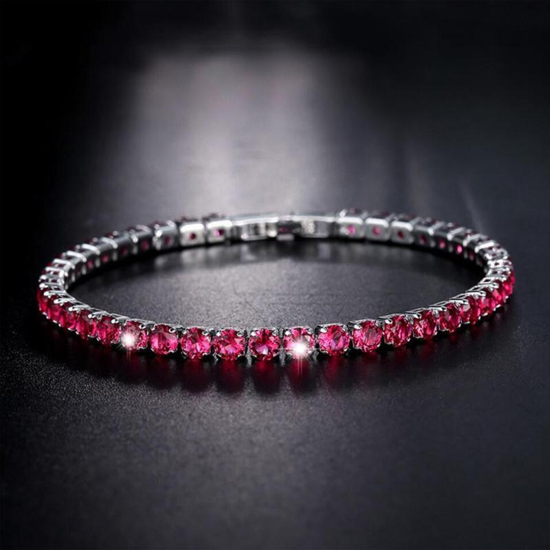 Pulseras de encanto 1pc Zircon de las mujeres Pulsera con incrustaciones de lujo Crystal Brillante Joyería de mano ajustable 2022 Moda delicado Chica