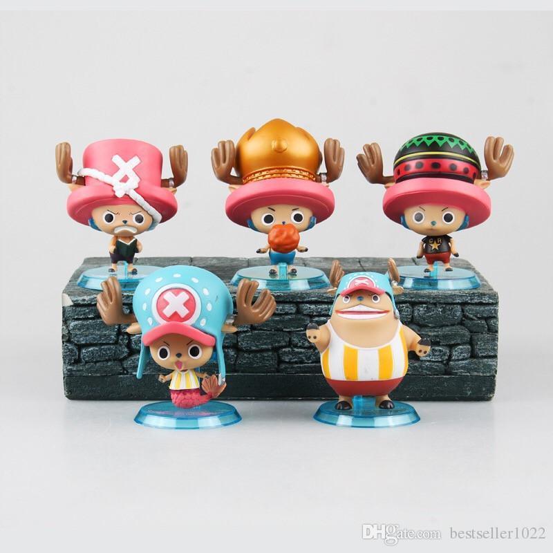 Anime Puppenstück Tony Tony Chopper 5 teile / satz Aktion Boxed Spielzeug Japanische PVC Zero Toys Cartoon Figuren Eine Figuarts Hklgo