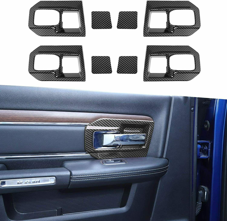 Kohlefaser-Innentürschüssel Griffabdeckung für Dodge RAM 1500 11-17