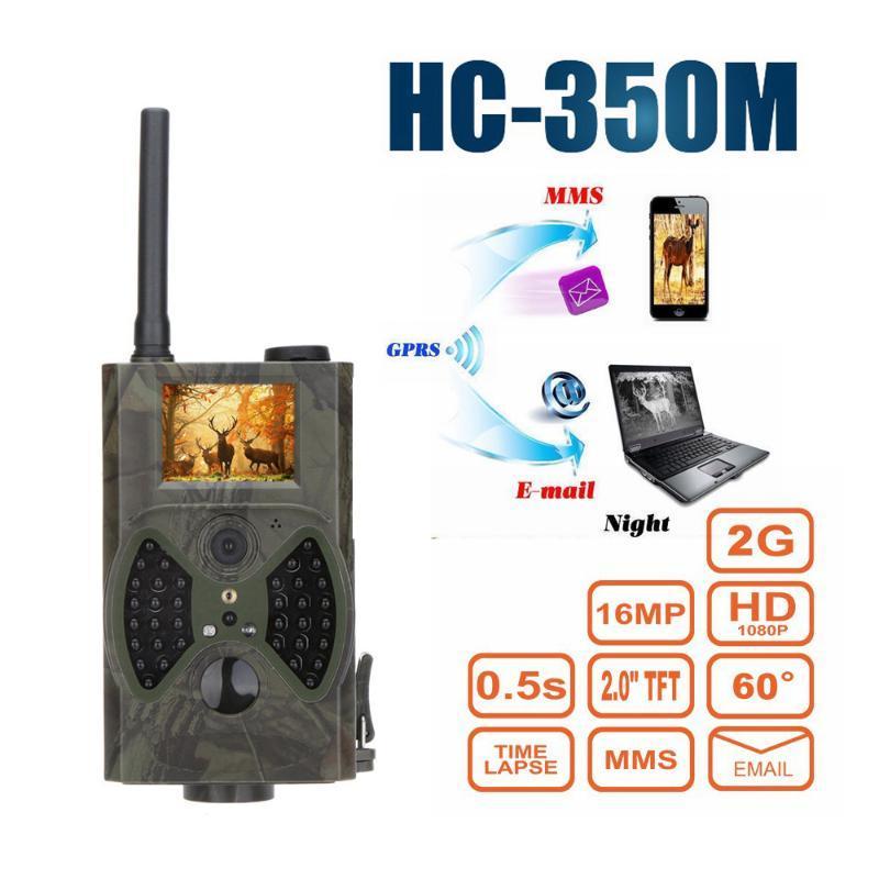 사냥 카메라 MMS GPRS 16MP 1080P PO 트랩 비디오 야간 투시경 적외선 트레일 HC350M HC550M 카메라