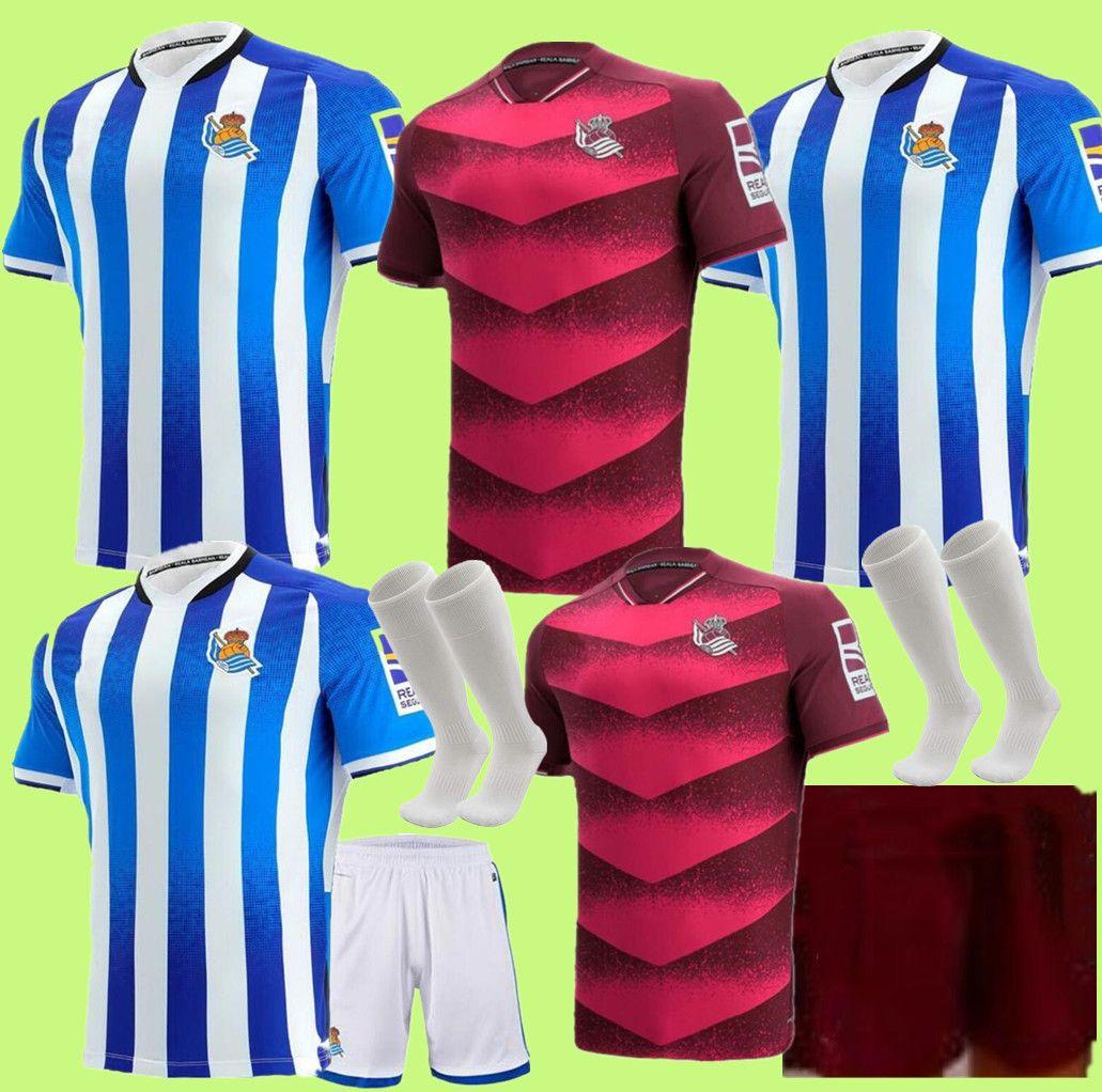 Kit Para Niños Adulto 2021 2022 King's Cup echtes Sociedad Soccer Jerseys Isak Wilian J. Oyarzabal Agirretxe Juanmi Merino Royal Society Foo