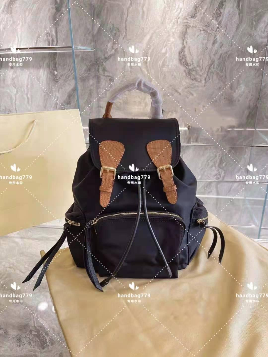 Fashion design solid backpack canvas cotton portable Travel commuting is unisex Military Classic pure color Patchwork Preppy Style