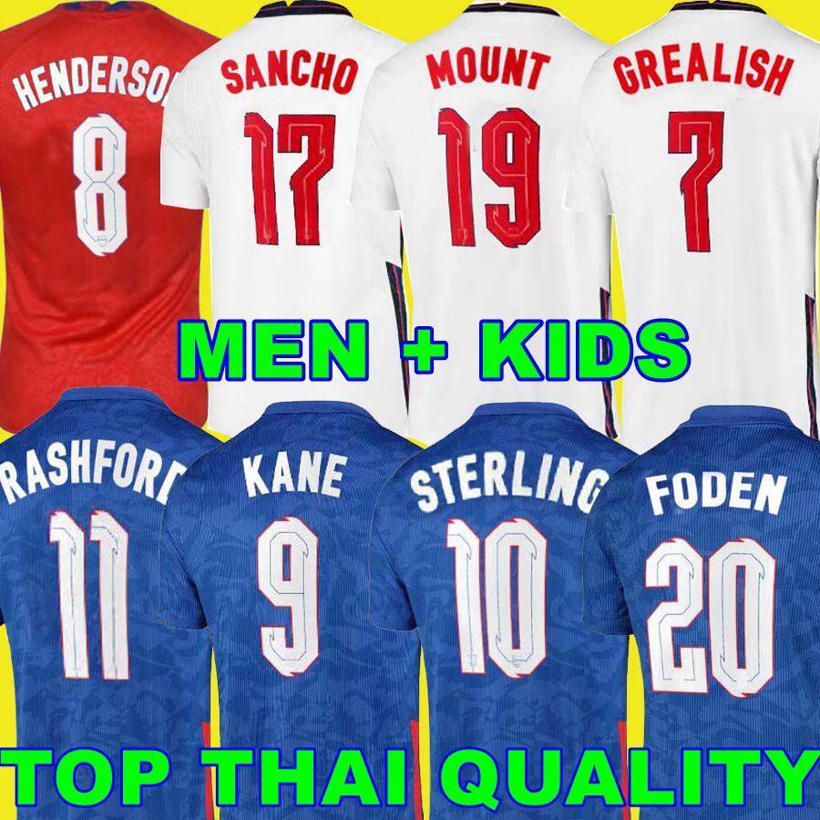 Futbol Forması 2020 2021 Kane Foden Sterling Dağı Rashford Sancho Henderson Maguire Grealish 21 22 Futbol Gömlek Erkekler Çocuk Kiti Üniforma Bellingham Saka