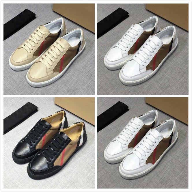Yeni Erkekler Sneakers Vintage Çek Pamuk ve Süet Sneakers Lüks Tasarımcı Ayakkabı Erkekler Kontrol Tuval Sneaker