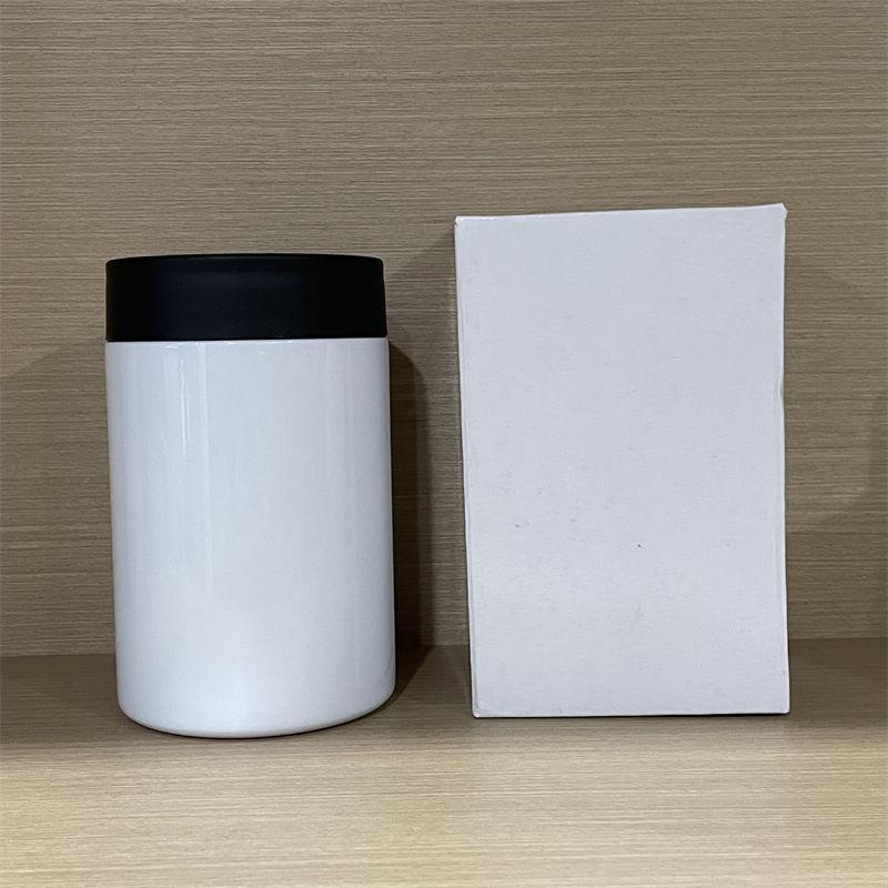 Sublimação pode cooler tumblers 12oz sem costura de aço inoxidável manter frio refrigeradores de quente transferência térmica caneca de café garrafas de água A02